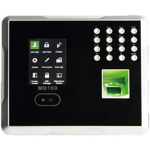 MB160 - Multi-Biometric Time Attendance Terminal with Access Control
