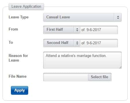 apply leave