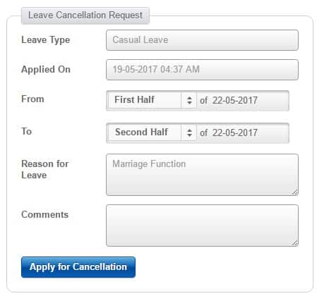 cancel leave