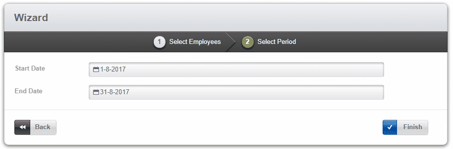 employee self service report select period