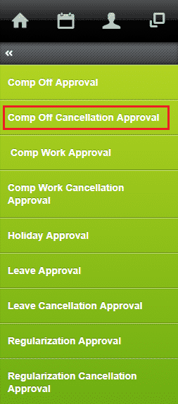 approve compensatory off cancellation