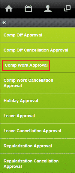 approve compensatory work