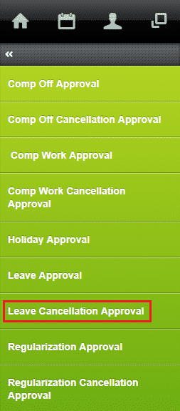 approve leave cancellation