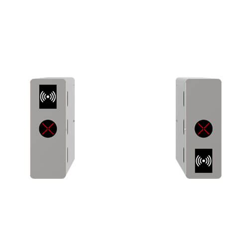 OP1011 - Single lane optical turnstile with controller and RFID reader 2