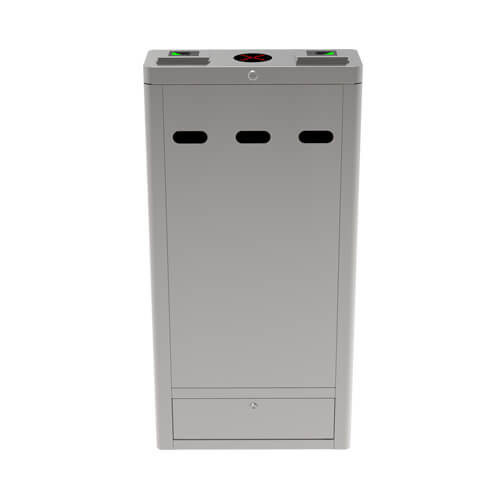 OP1222 - Additional lane infrared optical turnstile with controller and fingerprint & RFID readers