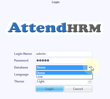 attendance software database